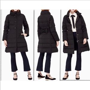 KATE SPADE JEWEL BUTTON PUFFER COAT ON POINTE BLK